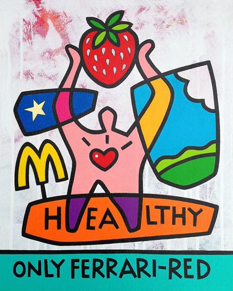 "<b>HEALTHY</b> - 40 x 50 cm - acrylic on canvas - SOLD  <a style=""color: red; text-decoration: none"" href=""mailto:jpgpmarsman@onsbrabantnet.nl"">BESTEL</a>"
